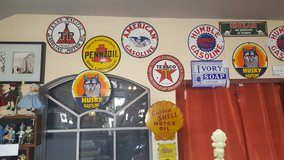 Porcelain Oil & Gas Signs in Spring, Texas