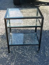 Glass side table in Bolingbrook, Illinois