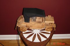 Handcrafted wooden car lamp in Naperville, Illinois