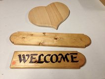 Wooden Welcome signs in Naperville, Illinois