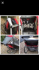 LIKE NEW! HI END Chariot Cougar 2 Seat Bike Trailer in Bolingbrook, Illinois