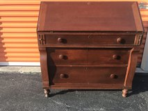 Antique Primitive Walnut Drop Lid Secretary Circa 1750 ish in Cherry Point, North Carolina