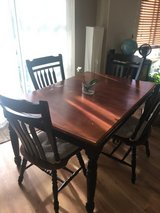 Solid Wood Dining Table + Chairs in Tacoma, Washington
