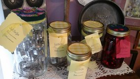 Decorative Mason Jars Filled With Cookie  Cutters To Give As Gifts-NEW Assembled by Crafter in Chicago, Illinois