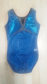 GK Sparkly Aqua Leotard Adult XS in Glendale Heights, Illinois