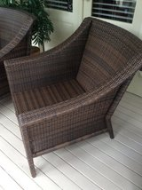 Set of 2 Matching Resin Wicker Club Chairs in Beaufort, South Carolina