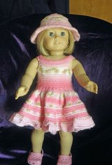 "Hand Knit Sun Dress for 18"" doll such as American Girl, Goetz, My Generation in Schaumburg, Illinois"