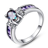 New - Rainbow Topaz and Amethyst Ring - Size 6 in Alamogordo, New Mexico