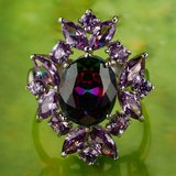 New - Rainbow Topaz and Amethyst Ring - Size 9 in Alamogordo, New Mexico