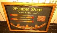 VINTAGE SHADOW BOX FISHING DORY GRAND BANKS 1895 in Ramstein, Germany