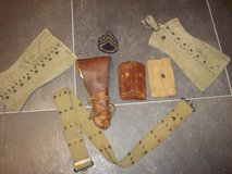 WWII U.S. Army .45 Caliber Pistol Belt Grouping in Wiesbaden, GE