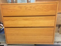 Solid wood 3 drawer chest in Wilmington, North Carolina