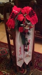 Vintage Decorated Sled in Ramstein, Germany