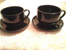 Black Soup Cups & Saucers in Eglin AFB, Florida
