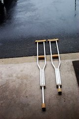 PAIR OF ALUMINUM CRUTCHES in Yorkville, Illinois