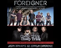 2 Tickets Foreigner, Cheap Trick, Jason Bonham's LZ   Sec. 101 - Row 11  Sept. 1st  Wheatland in Travis AFB, California