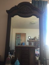 Chest of drawers (9 drawers) all wood with mirror in Alamogordo, New Mexico