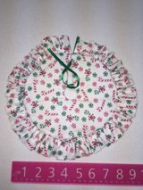 Candy cane tree skirt in Lockport, Illinois