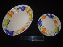 """Heritage Artist's Touch Orchard Jubilee 18"""" Serving Platter & 12"""" Serving Tray in Fort Benning, Georgia"""