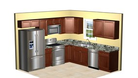 All wood Kitchen Cabinets for 10' X 10' kitchen as shown delivered $2460. + NC sales tax in Camp Lejeune, North Carolina