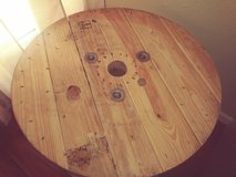 wooden spool/end table/coffee table in Kingwood, Texas