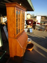Antique Slope Front English Secretary Hutch in Yucca Valley, California