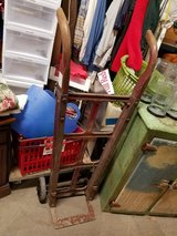 ANTIQUE IRON WHEEL HAND TRUCK DOLLY FEED BAG CART STEAMPUNK DECOR in Chicago, Illinois