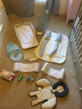 New born bundle bassinet bumpers swaddle diaper gennie in Naperville, Illinois