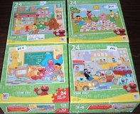 ONLY $1 (4) Sesame Street Puzzles from Milton Bradley 24-Piece Age 3+ in Plainfield, Illinois