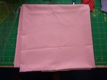 One square metre of pink cotton material, excellent quality in Lakenheath, UK