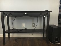 LG Surround Sound and Woofer with Table in Wilmington, North Carolina