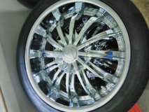 "18"" rims and tires in St. Charles, Illinois"