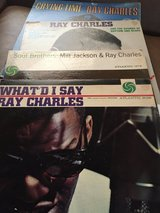 Collection of Ray Charles Albums in Perry, Georgia