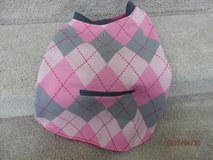 Pink and Gray Dog Coat in Naperville, Illinois