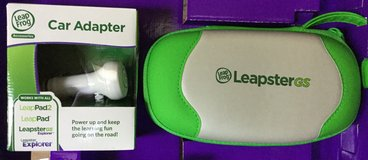 Leapster gs travel case and car charger new in Naperville, Illinois