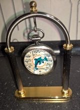 NFL DOLPHIN POCKET WATCH WITH STAND in Ramstein, Germany