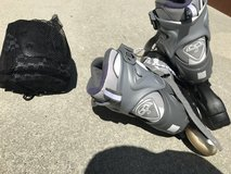 Roller blades size 7 with knee pads in Wilmington, North Carolina