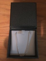 SILVER NECKLACE: Diamond cut rope- 24in in Okinawa, Japan