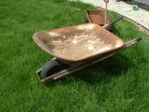 rusted wheel barrel for garden decoration or restore. in Orland Park, Illinois