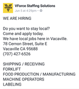 Available Jobs in Travis AFB, California
