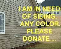 IN NEED OF VINIL SIDING. PLEASE DONATE... in Camp Lejeune, North Carolina