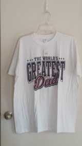 "New with tags!  ""World's Greatest Dad"" T-shirt (2 available) in Naperville, Illinois"