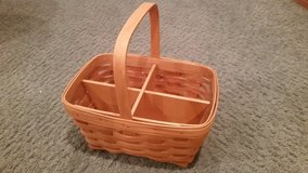 Longaberger Spring Basket with Protector and Divider in Orland Park, Illinois