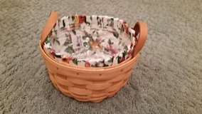 Longaberger Button Basket, Liner and Protector in Aurora, Illinois