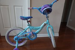 """Kid Bike Disney Frozen 18"""" Bicycle (with removable training wheels) in Naperville, Illinois"""