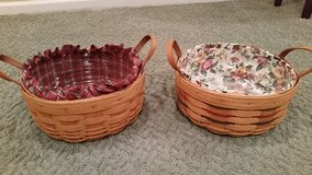 Longaberger Darning Baskets-, Protectors and Liners in Naperville, Illinois