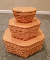 Longaberger Generations Baskets with protectors and wood lids in Orland Park, Illinois