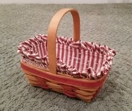 Longaberger Basket #6 with protector and liner in Orland Park, Illinois
