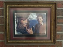 Disney Pirates of the Caribbean Depp Bloom Movie Framed Print Picture in Naperville, Illinois