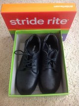 Boys black dress shoes, size 3 in Yorkville, Illinois